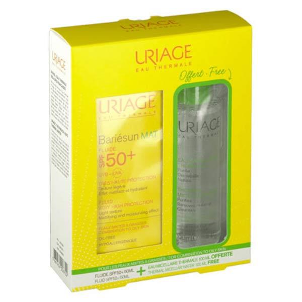 Uriage Bariésun Fluide Mat SPF50+ 50ml + Eau Micellaire Thermale 100ml