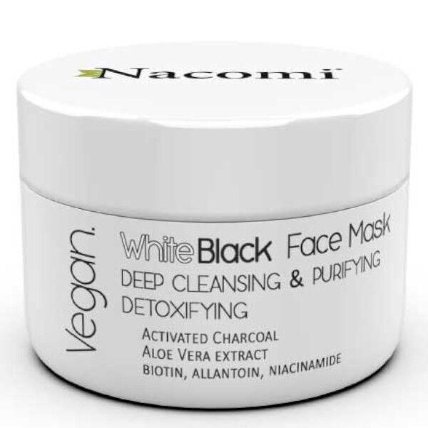 Nacomi Masque Noir et Blanc Nettoyant Purifiant & Détoxifiant 50ml