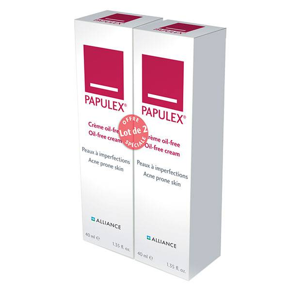 Alliance Pharma France Alliance Pharma Papulex ® Crème Oil-Free Anti-Imperfections Lot de 2 x 40ml