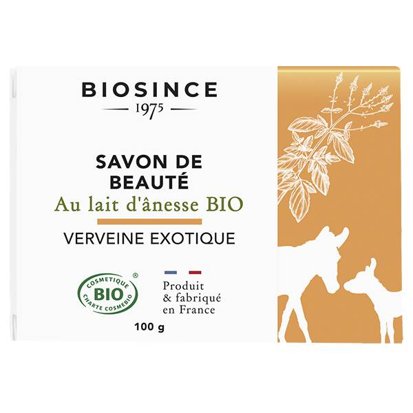 Gravier Biosince 1975 Savon de Beauté Lait d'Ânesse Verveine Exotique Bio 100g