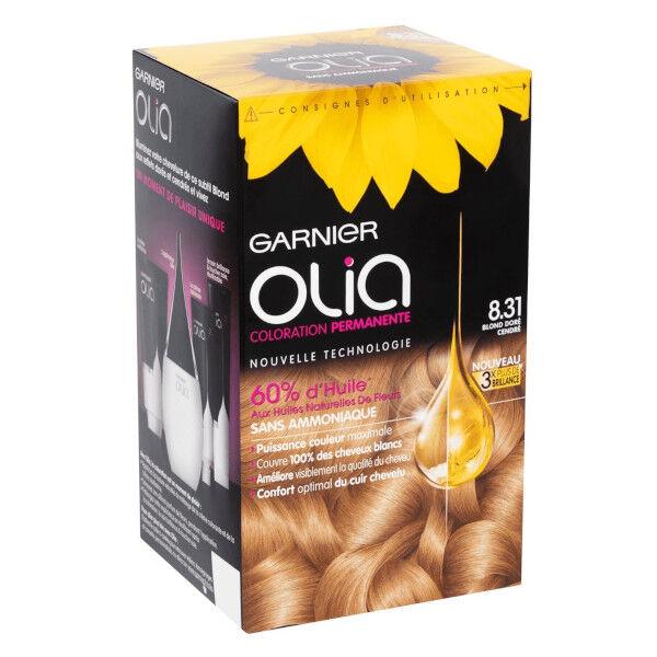 Olia Garnier Olia Coloration Permanente Sans Ammoniaque 8.31 Blond Doré Cendré