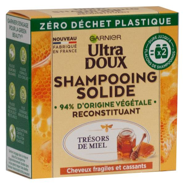 Garnier Ultra Doux Shampoing Solide Reconstituant Miel 60g