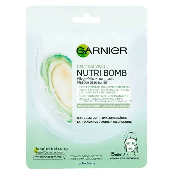 Garnier SkinActive Nutri Bomb Masque Tissu Amande 28g