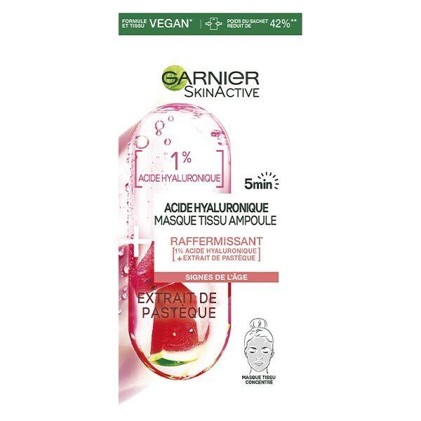 Garnier SkinActive Masque Tissu Ampoule Raffermissant à l'Acide Hyaluronique 15g