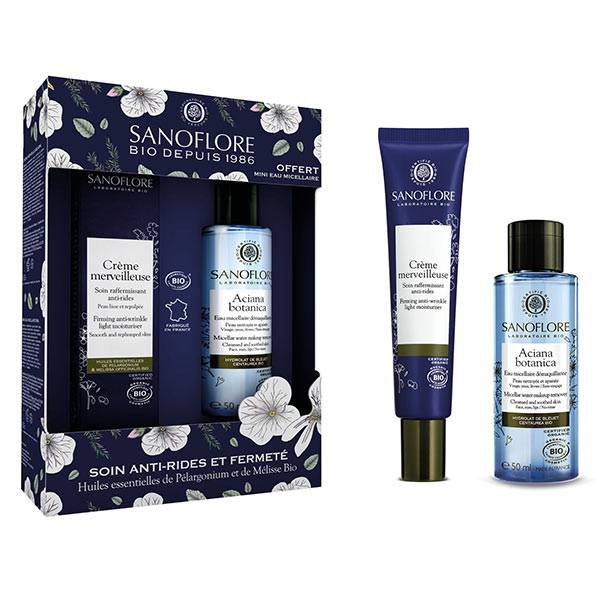 Sanoflore Crème Merveilleuse Soin Raffermissant Anti-Rides Bio 40ml + Aciana Botanica Eau Micellaire Bio 50ml Offerte