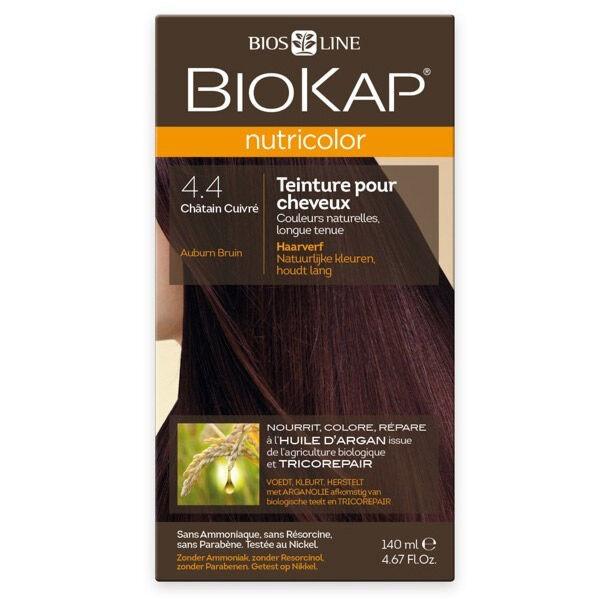 Biokap Nutricolor Teinture pour Cheveux 4.4 Châtain Cuivré 140ml