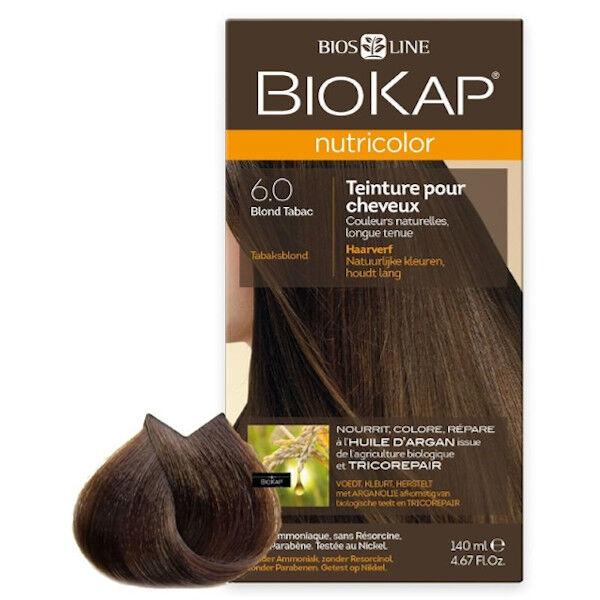 Biokap Nutricolor Teinture pour Cheveux 6.0 Blond Tabac 140ml