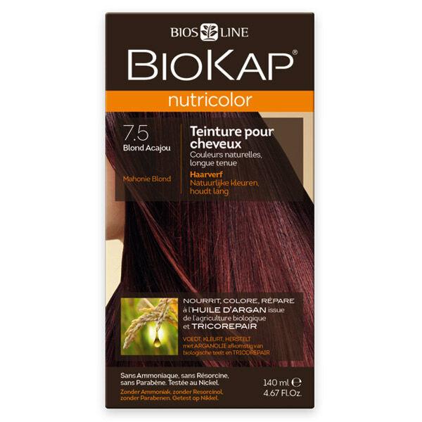 Biokap Nutricolor Teinture pour Cheveux 7.5 Blond Acajou 140ml