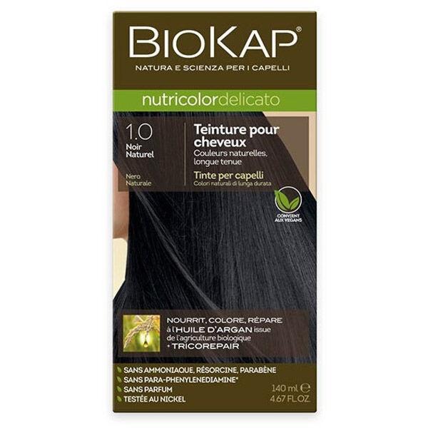 Biokap Nutricolor Delicato Teinture pour Cheveux 1.0 Noir Naturel 140ml