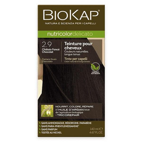 Biokap Nutricolor Delicato Teinture pour Cheveux 2.9 Châtain Foncé Chocolat 140ml