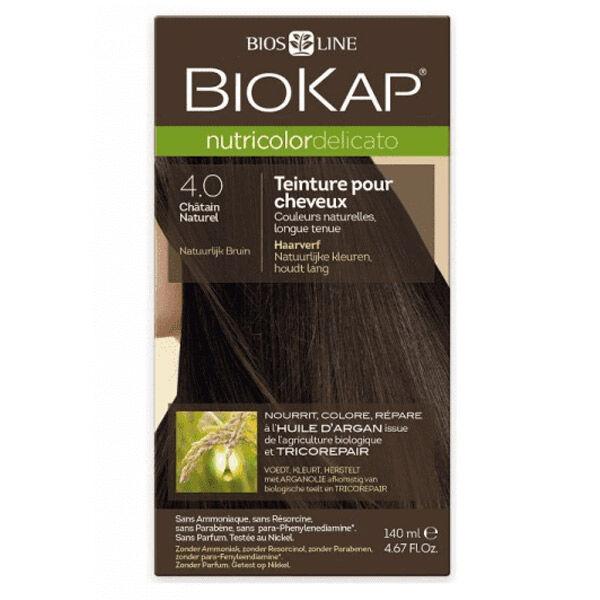 Biokap Nutricolor Delicato Teinture pour Cheveux 4.0 Châtain Naturel 140ml