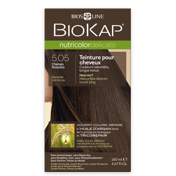 Biokap Nutricolor Delicato Teinture pour Cheveux 5.05 Châtain Noisette 140ml