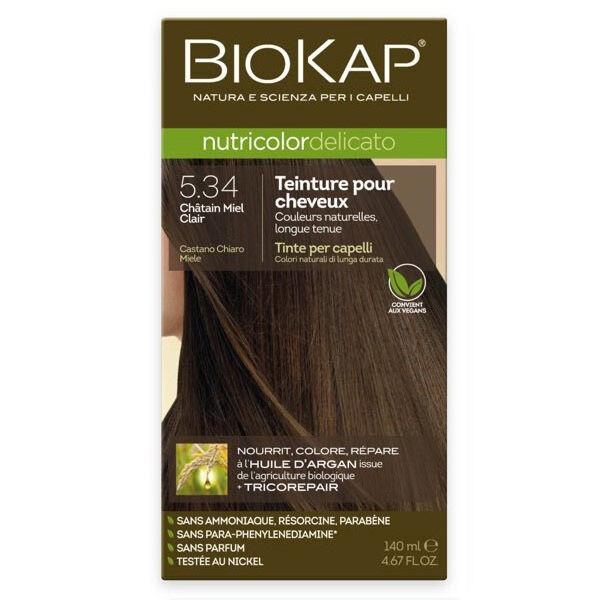 Biokap Nutricolor Delicato Teinture pour Cheveux 5.34 Châtain Miel Clair 140ml