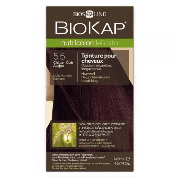 Biokap Nutricolor Delicato Teinture pour Cheveux 5.5 Châtain Clair Acajou 140ml