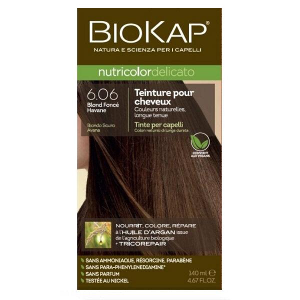 Biokap Nutricolor Delicato Teinture pour Cheveux 6.06 Blond Foncé Havane 140ml