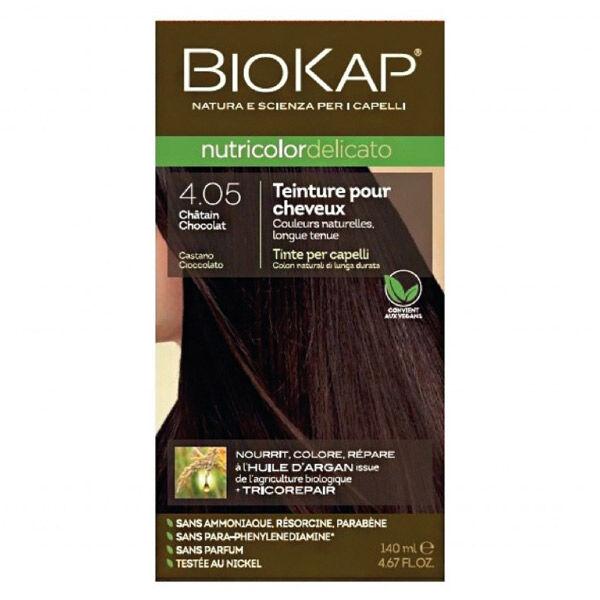 Biokap Nutricolor Delicato Teinture pour Cheveux 4.05 Châtain Chocolat 140ml