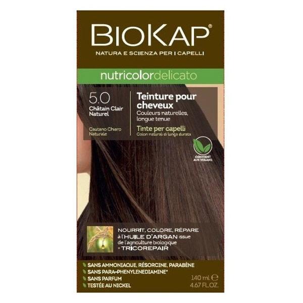 Biokap Nutricolor Delicato Teinture pour Cheveux 5.0 Châtain Clair Naturel 140ml