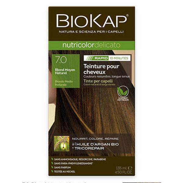 Biokap Nutricolor Delicato Rapid Teinture pour Cheveux 7.0 Blond Moyen Naturel 135ml