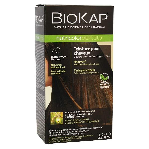 Biokap Nutricolor Delicato Teinture pour Cheveux 7.0 Blond Moyen Naturel 140ml