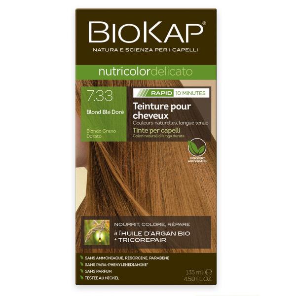 Biokap Nutricolor Delicato Rapid Teinture pour Cheveux 7.33 Blond Blé Doré 135ml