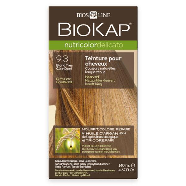 Biokap Nutricolor Delicato Teinture pour Cheveux 9.3 Blond Très Clair Doré 140ml