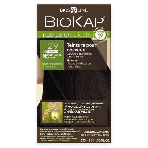 Biokap Nutricolor Delicato Rapid Teinture pour Cheveux 2.9 Châtain Foncé Chocolat 135ml