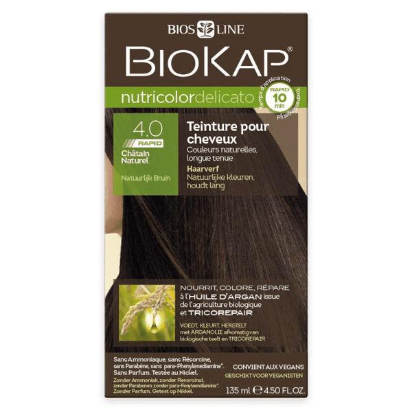 Biokap Nutricolor Delicato Rapid Teinture pour Cheveux 4.0 Châtain Naturel 135ml