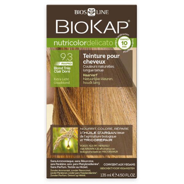 Biokap Nutricolor Delicato Rapid Teinture pour Cheveux 9.3 Blond Très Clair Doré 135ml