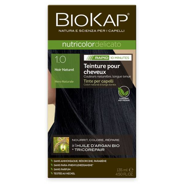 Biokap Nutricolor Delicato Rapid Noir Naturel 1.0 135ml