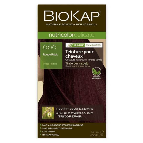 Biokap Nutricolor Delicato Rapid Rouge Rubis 6.66 135ml