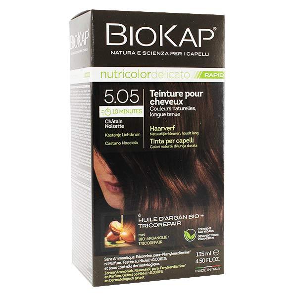 Biokap Nutricolor Delicato Rapid Teinture pour Cheveux 5.05 Chatain Noisette 135ml