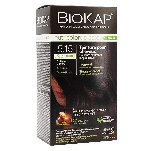 Biokap Nutricolor Delicato Rapid Teinture pour Cheveux 5.15 Chatain Cendré 135ml