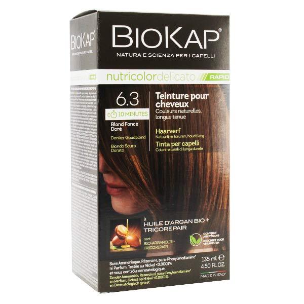 Biokap Nutricolor Delicato Rapid Teinture pour Cheveux 6.3 Blond Foncé Doré 135ml