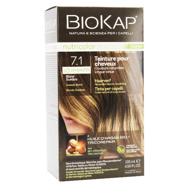 Biokap Nutricolor Delicato Rapid Teinture pour Cheveux 7.1 Blond Suédois 135ml