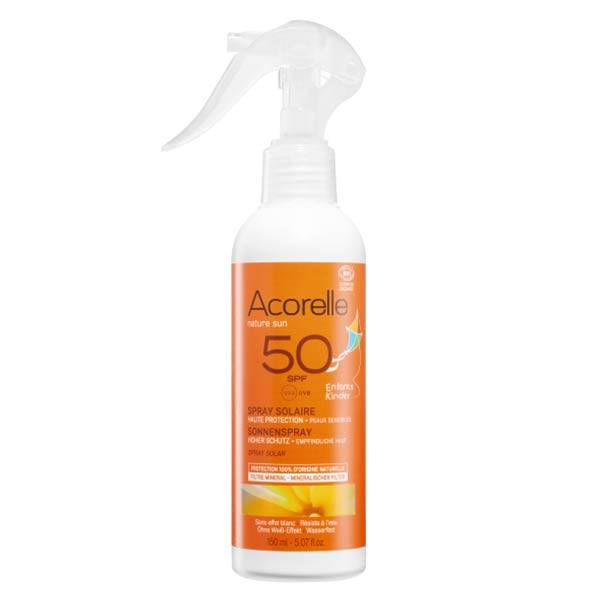 Acorelle Spray Solaire Bio Enfants SPF50 150ml