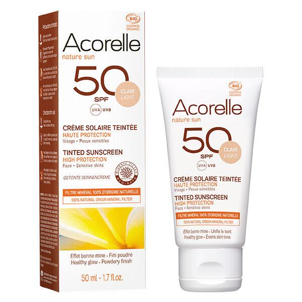 Acorelle Nature Sun Crème Solaire Teinte Claire SPF50 Bio 50ml