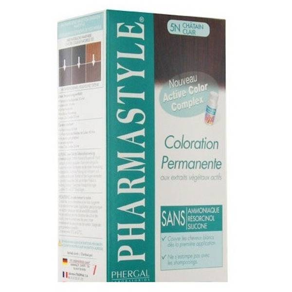 Pharmastyle Coloration Teinture Cheveux Châtain Clair 5N