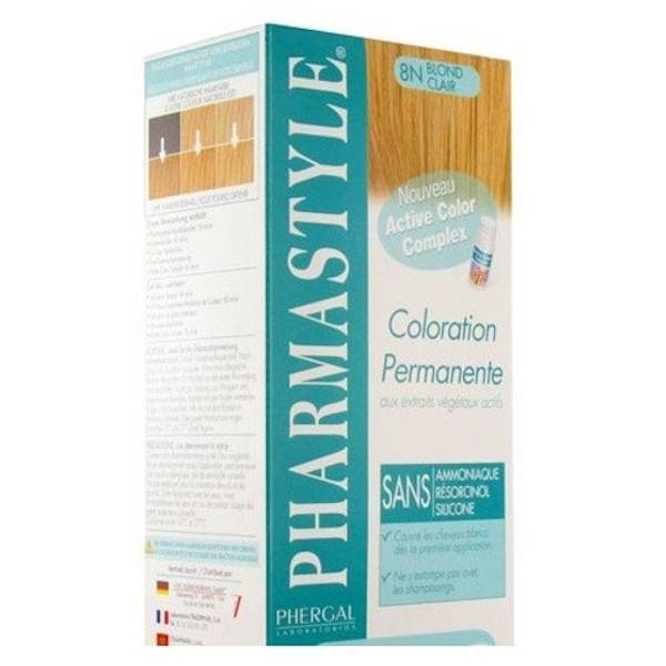 Pharmastyle Coloration Teinture Cheveux Blond Clair 8N