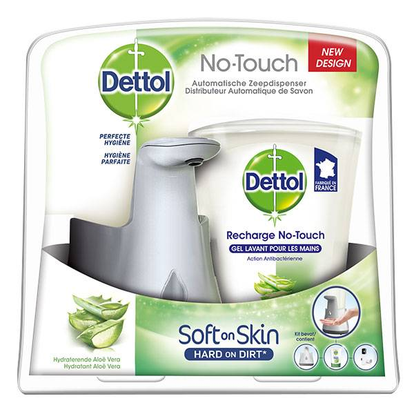 Dettol No-Touch Kit Effet Inox Aloe Vera 250ml