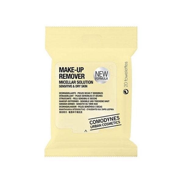 Comodynes Make-Up Remover Démaquillant Peaux Sèches 20 Lingettes