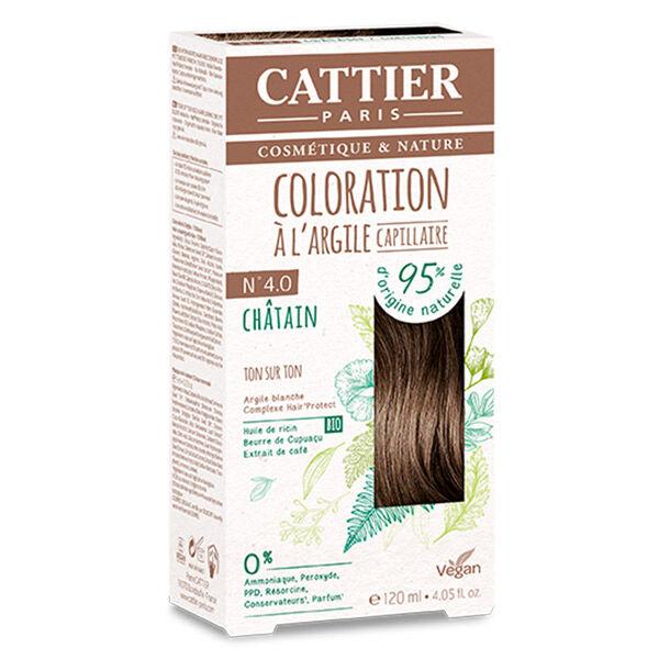 Cattier Coloration Ton sur Ton Châtain 4.0 120ml