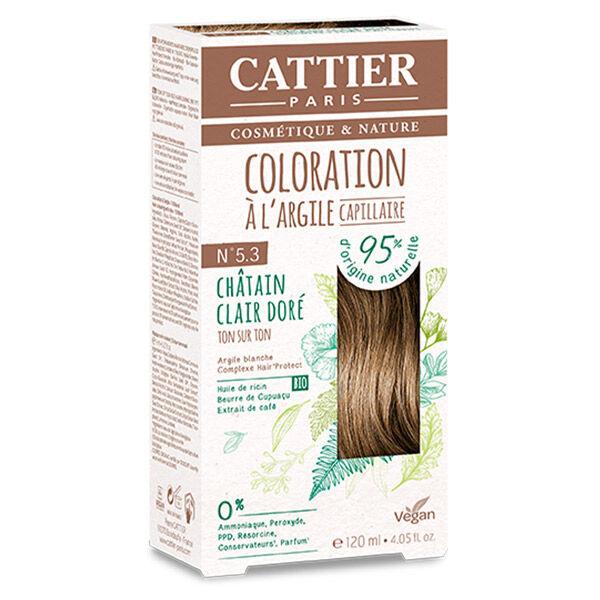 Cattier Coloration Ton sur Ton Châtain Clair Doré 5.3 120ml