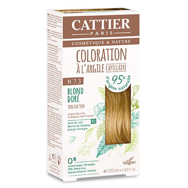 Cattier Coloration Ton sur Ton Blond Doré 7.3 120ml