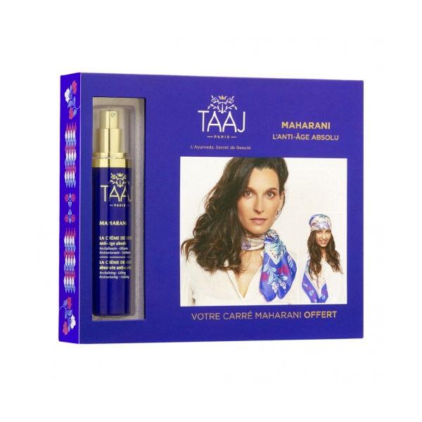 TAAJ - Maharani - Coffret La Crème de Reine Anti-âge Absolu 50ml + Carré Maharani Offert