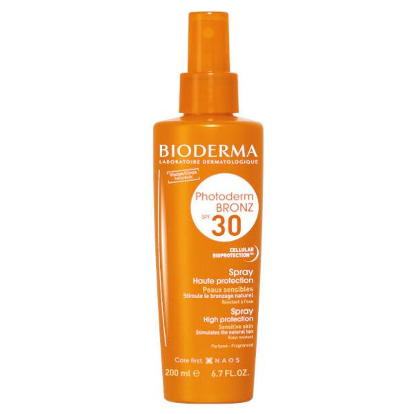 Bioderma Photoderm Bronz Spray Solaire Bronzage Naturel SPF30 200ml