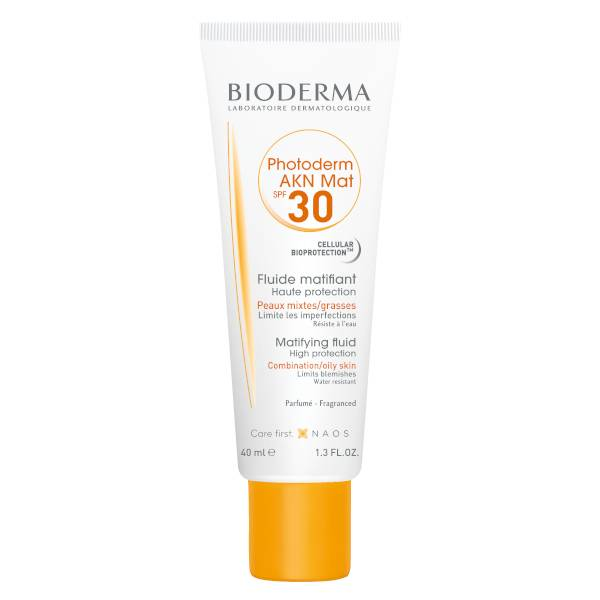 Bioderma Photoderm AKN Mat Protection Solaire Matifiante Anti-Imperfections Peaux Mixtes SPF30 40ml