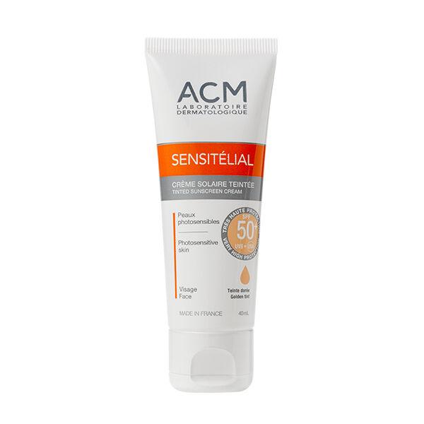 ACM Sensitélial Crème Solaire Teintée Dorée SPF50+ 40ml