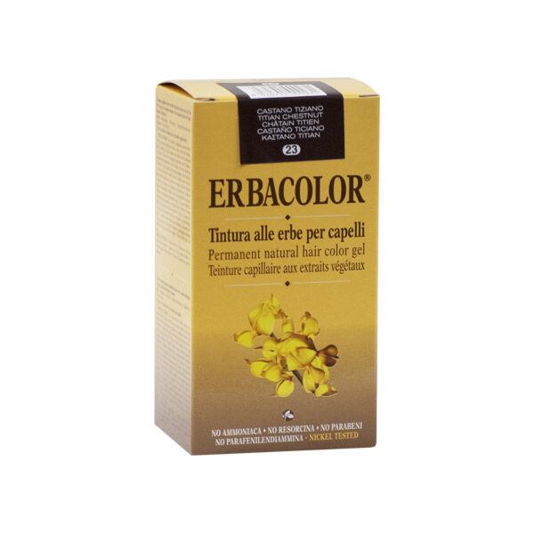 Erbacolor Coloration Châtain Titien 23