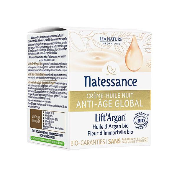 Natessance Lift'Argan Crème Huile Nuit Anti-Age Global 50ml