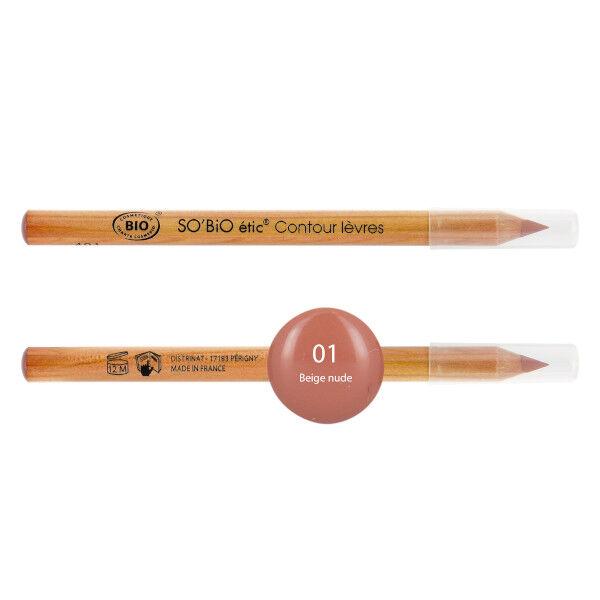 So'Bio Étic Pure Color Crayon Contour des Lèvres Bio N°01 Corail